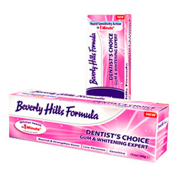 отбеливающая паста Beverly Hills Formula Dentist's Choice Gum & Whitening Expert